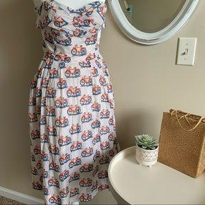 ANTHRO Postmark Bike Lane Strapless Dress Size 4